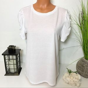LOFT OUTLET PUFFED SLEEVE TOP